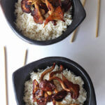 Fluffy white rice scented with coconut and lemongrass takes simple rice to another level. Top it with your favorite mushrooms and settle in for a simple but delicious experience | www.breakingbreadwithashley.com