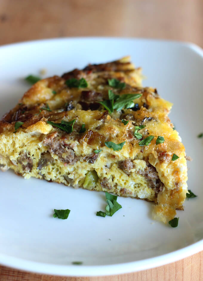 . This savory sausage, leek, and mushroom frittata makes for an easy weeknight dinner paired with side salad or for a weekend brunch.