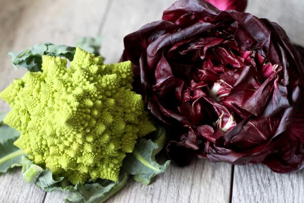 Romanesco Cauliflower and radicchio