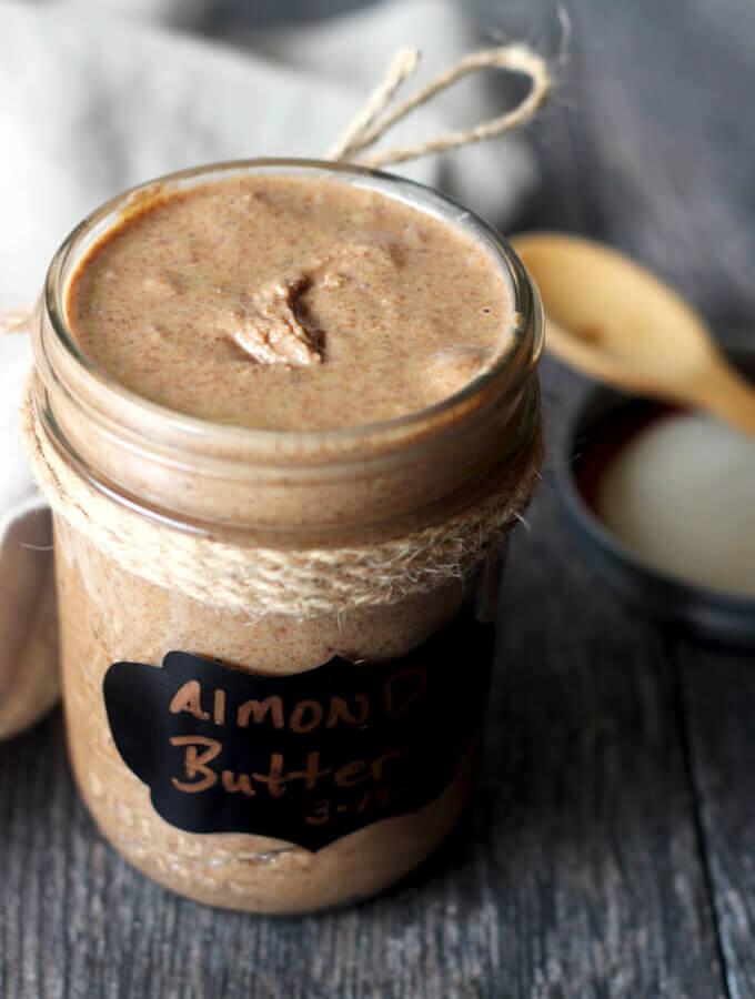 Cinnamon Almond Butter in glass jar